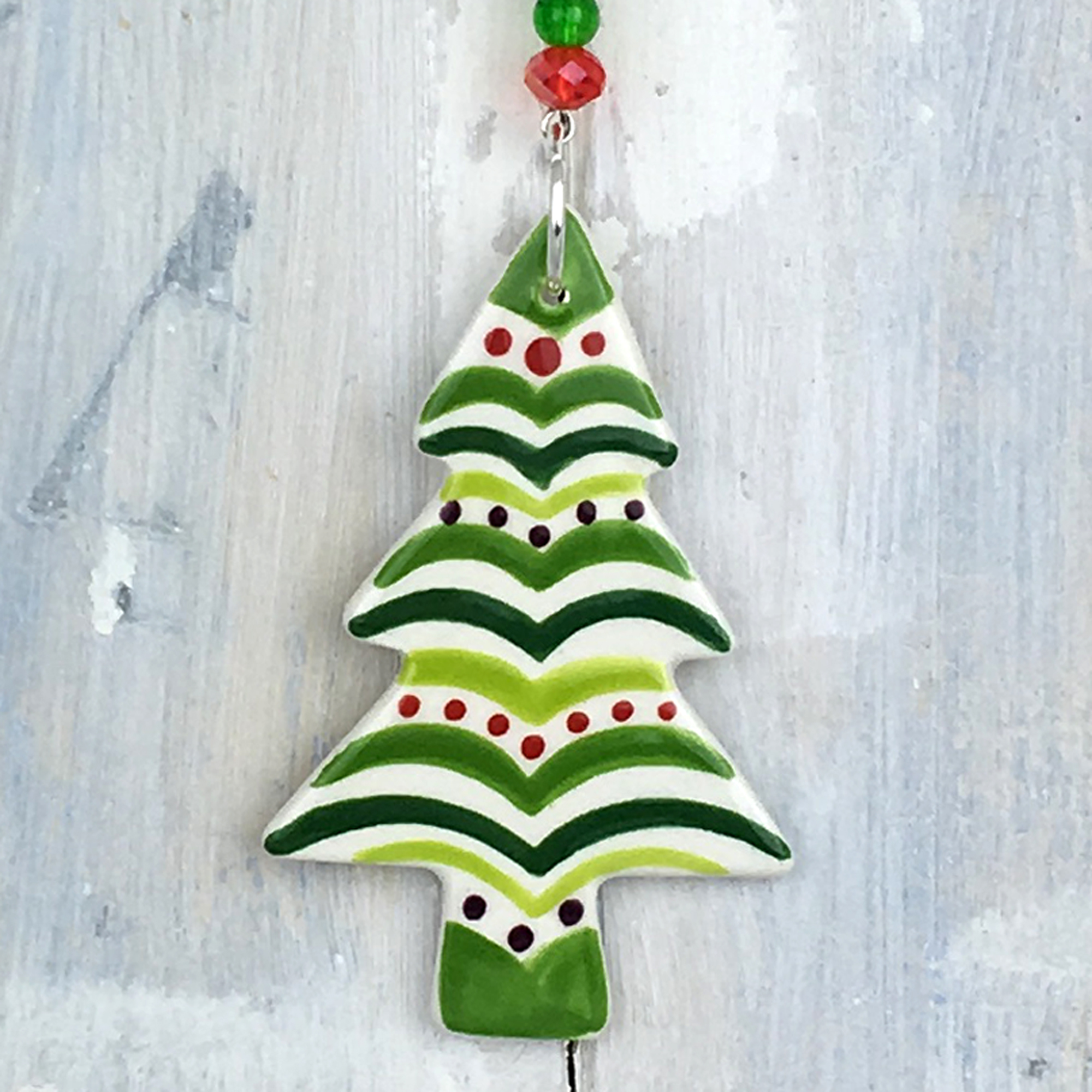 Multi Colour Christmas Tree 2019 Decoration Handmade In The Uk